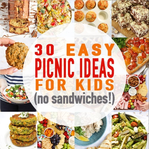 Easy Picnic Ideas for Kids with no sandwiches