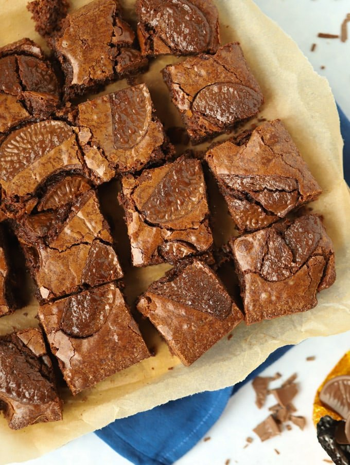 Brownies with Terry's Chocolate Orange