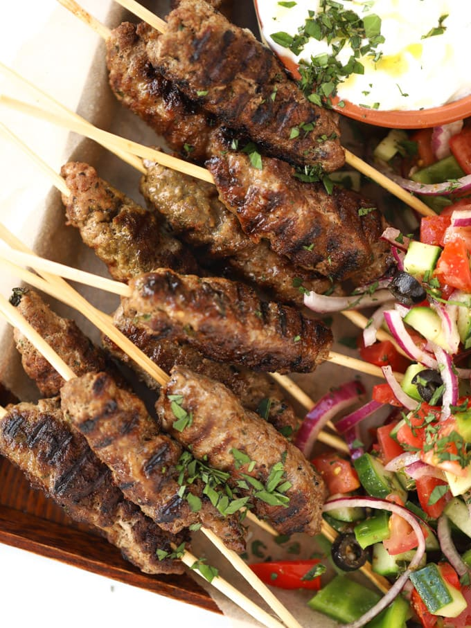 Easy lamb mince recipe. Kebabs for the barbecue.