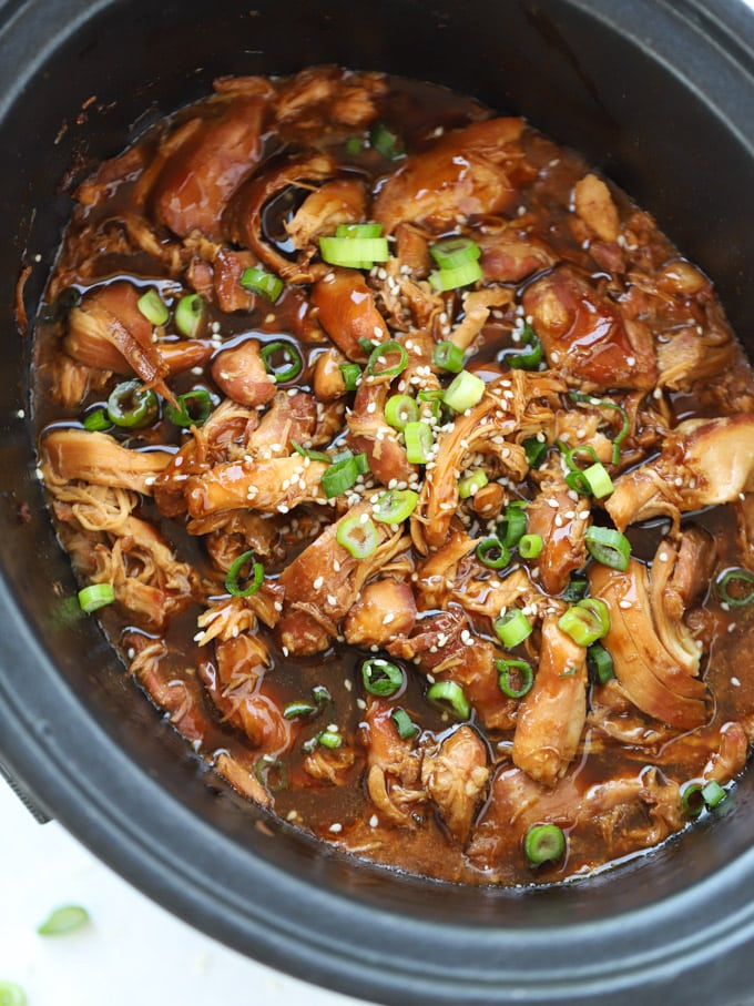 Slow Cooker chicken thighs with honey and garlic sticky sauce