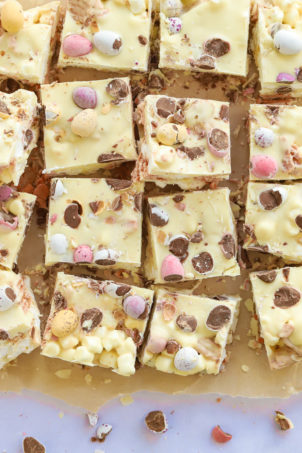 Mini Egg Rocky Road recipe with white chocolate for Easter