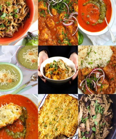 Batch Cooking recipes to fill your freezer including curries, pie and vegetarian meals