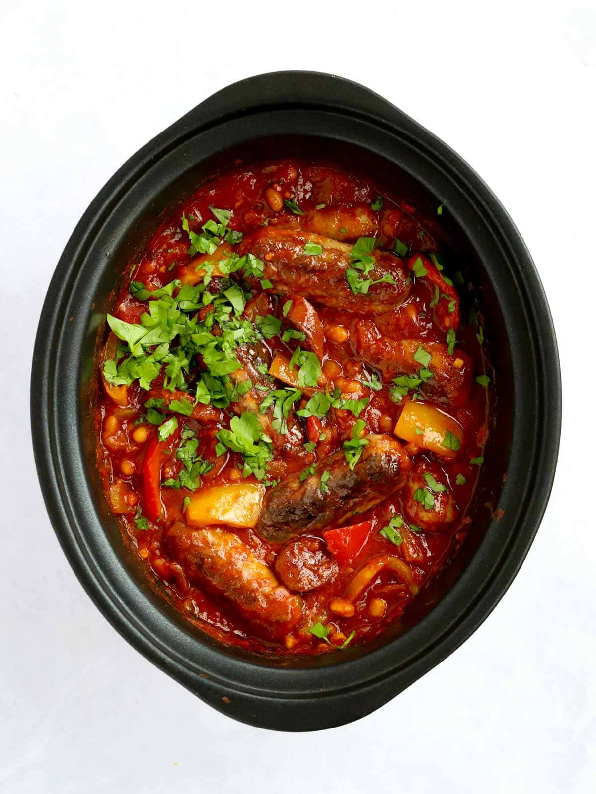 Sausage Slow Cooker Casserole with beans